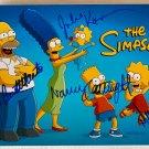 The Simpsons cast signed autographed 8x12 photo Nancy Cartwright Dan Castellaneta autographs