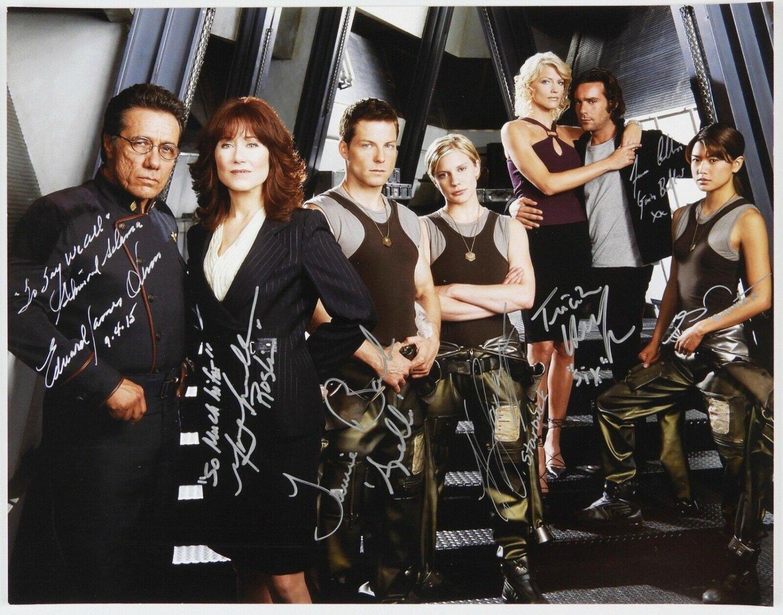 Battlestar Galactica cast signed autographed 8x12 photo Edward James Olmos autographs