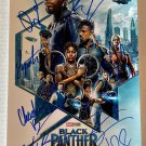 Black Panther cast signed autographed 8x12 photo Chadwick Boseman autographs