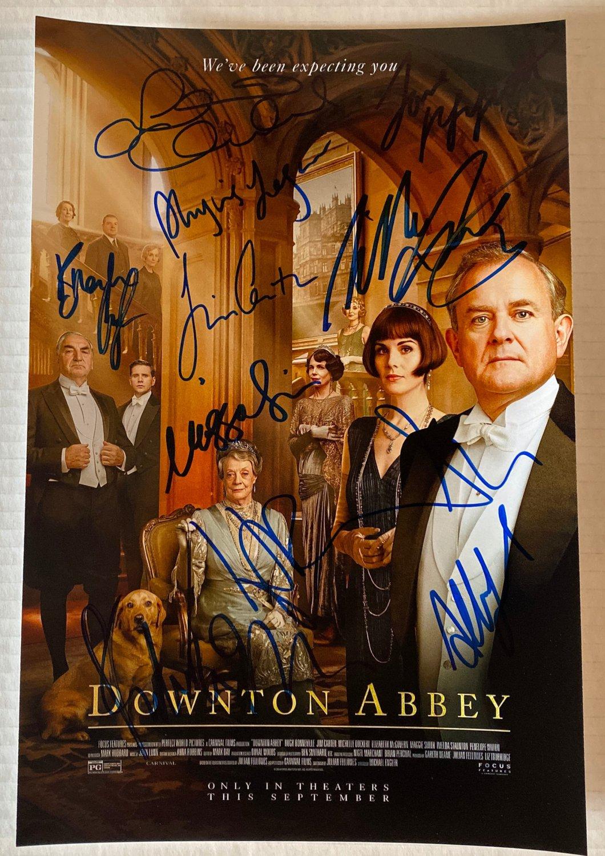 Downton Abbey cast signed autographed 8x12 photo Hugh Bonneville autographs