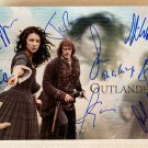 Outlander cast signed autographed 8x12 photo Sam Heughan Caitriona Balfe autographs