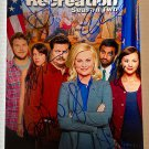 Parks and Recreation cast signed autographed 8x12 photo Amy Poehler Nick Offerman autographs