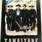 Tombstone cast signed autographed 8x12 photo Bill Paxton Val Kilmer Sam Elliot autographs