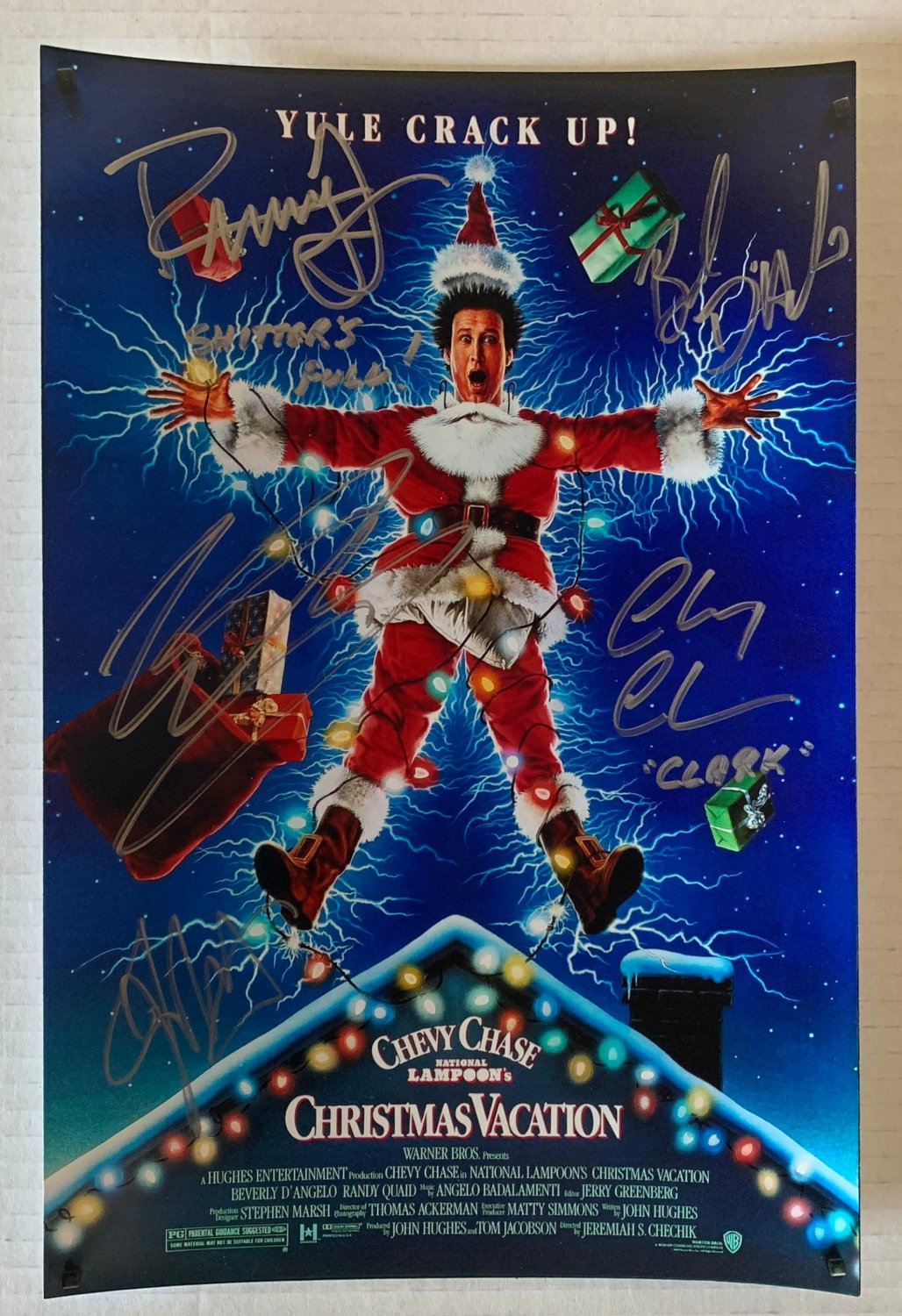 National Lampoons Christmas Vacation cast signed autographed 8x12 photo Chevy Chase autographs