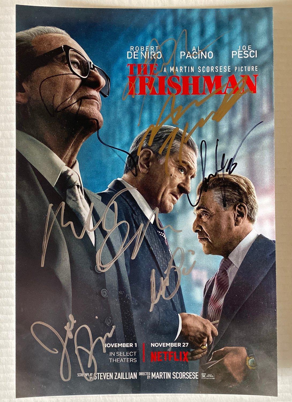 The Irishman cast signed autographed 8x12 photo Robert De Niro Joe Pesci autographs