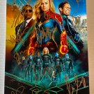 Captain Marvel cast signed autographed 8x12 photo Brie Larson autographs photograph