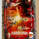Jurassic Park 1993 cast signed autographed 8x12 photo Sam Neill Jeff Goldblum autographs