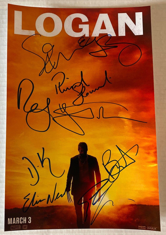 Logan cast signed autographed 8x12 photo Hugh Jackman autographs Wolverine photograph
