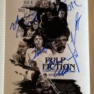 Pulp Fiction cast signed autographed 8x12 photo Uma Thurman John Travolta autographs