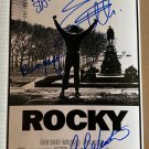 Rocky 1976 cast signed autographed 8x12 photo Sylvester Stallone Talia Shire autographs
