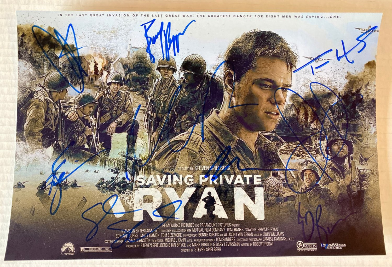 Saving Private Ryan cast signed autographed 8x12 photo Tom Hanks Matt Damon autographs