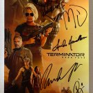 Terminator Dark Fate cast signed autographed 8x12 photo Arnold Schwarzenegger autographs