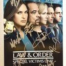 Law and Order Special Victims Unit cast signed autographed 8x12 photo Mariska Hargitay SVU