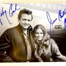 Johnny Cash June Carter Cash dual signed autographed 8x12 photo photograph Walk The Line