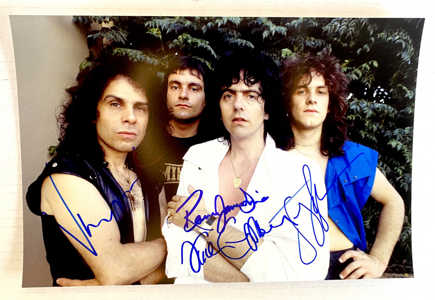 Ronnie James Dio band signed autographed 8x12 photo photograph Vivian Campbell