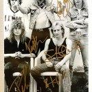 Def Leppard band signed autographed 8x12 photo Joe Elliott Steve Clark autographs