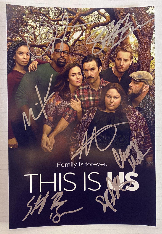 This Is Us cast signed autographed 8x12 photo Milo Ventimiglia Mandy Moore autographs