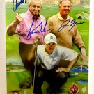 Tiger Woods Jack Nicklaus Arnold Palmer signed autographed 8x12 photo photograph rc auto