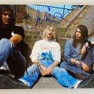 Nirvana band Kurt Cobain signed autographed 8x12 photo photograph Dave Grohl autographs