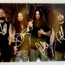 Pantera band signed autographed 8x12 photo Dimebag Darrell Abbott Vinnie Paul autographs