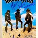 Motorhead band signed autographed 8x12 photo Lemmy Kilmister Ace of Spades autographs