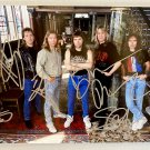 Iron Maiden band signed autographed 8x12 photo Bruce Dickinson autographs