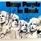 Deep Purple band signed autographed 8x12 photo Ritchie Blackmore autographs