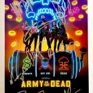 Army of the Dead cast signed autographed 8x12 photo Dave Bautista Ella Purnell autographs