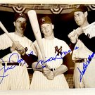Mickey Mantle Joe DiMaggio Ted Williams signed autographed 8x12 photo New York Yankees
