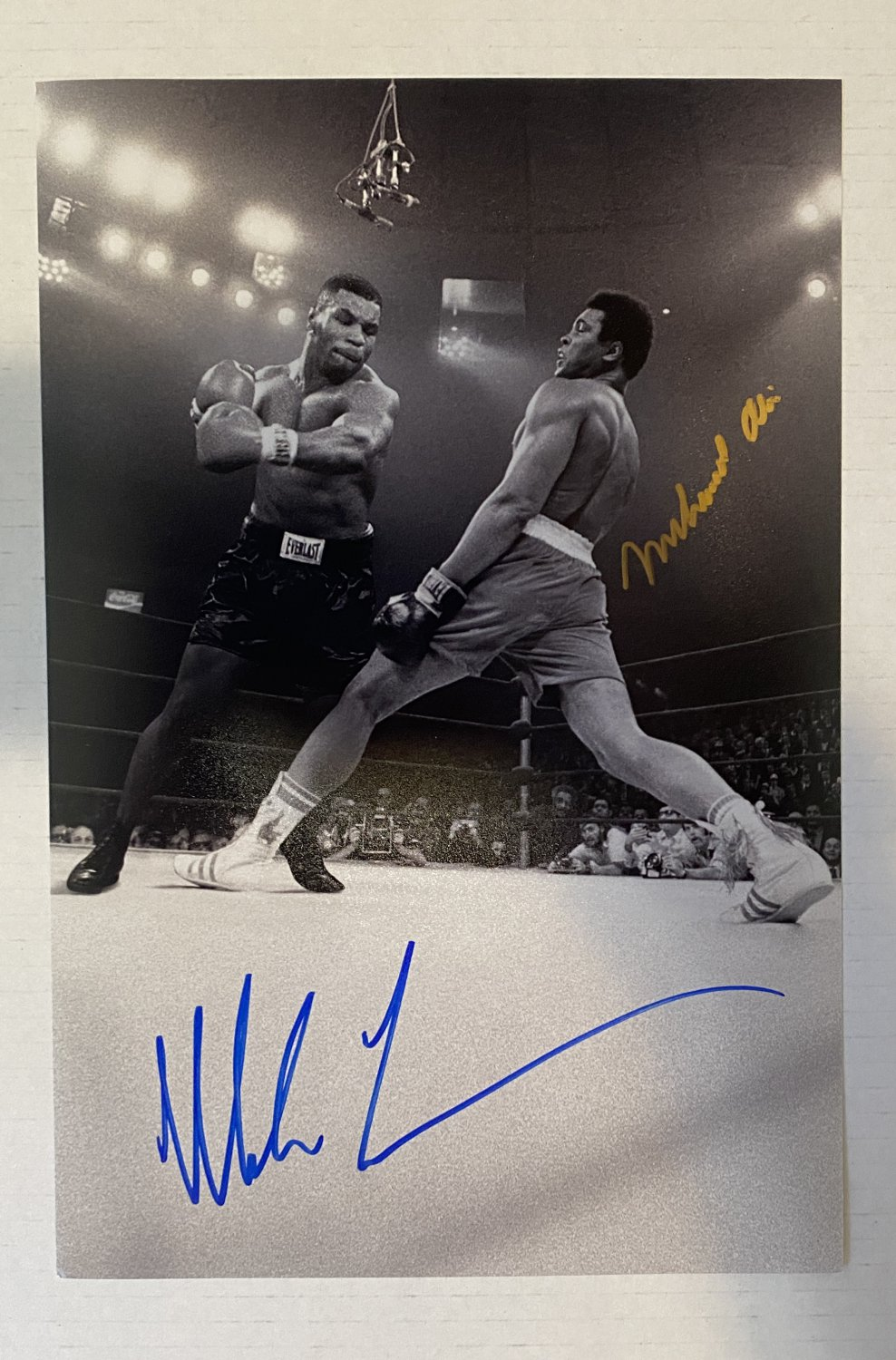 Muhammad Ali Mike Tyson dual signed autographed 8x12 photo photograph boxing