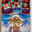 A League of Their Own cast signed autographed 8x12 photo Tom Hanks Geena Davis Madonna autographs