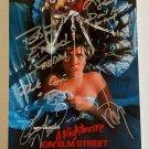 A Nightmare on Elm Street cast signed autographed 8x12 photo Robert Englund Johnny Depp autographs