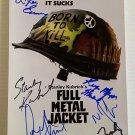 Full Metal Jacket cast signed autographed 8x12 photo Stanley Kubrick Matthew Modine autographs