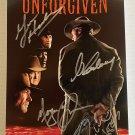 Unforgiven cast signed autographed 8x12 photo Clint Eastwood Morgan Freeman autographs