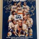 Slapshot cast signed autographed 8x12 photo Paul Newman Jeff Steve Carlson David Hanson