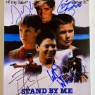 Stand By Me cast signed autographed 8x12 photo River Phoenix Wil Wheaton autographs