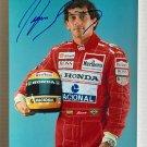 Ayrton Senna signed autographed 8x12 photo photograph Grand Prix Formula One