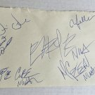 NWA band signed autographed 8x5 inch page Easy E Dr. Dre Ice Cube autographs N.W.A.
