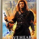 Braveheart cast signed autographed 8x12 photo Mel Gibson Sophie Marceau autographs