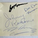 The Ramones band signed autographed 5x4 inch page Joey Johnny Dee Dee Ramone autographs