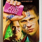 Fight Club cast signed autographed 8x12 photo Brad Pitt Edward Norton Jared Leto autographs
