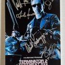 Terminator 2 Judgement Day cast signed autographed 8x12 photo Arnold Schwarzenegger autographs