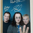 Rush band signed autographed 8x12 photo Neil Peart Geddy Lee Alex Lifeson autographs