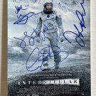 Interstellar cast signed autographed 8x12 photo Matthew McConaughey Anne Hathaway autographs