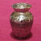 Small/Keepsake 3 Cubic Inch Nickel Brass & Enamel Funeral Cremation Urn Silver