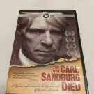 American Masters: The Day Carl Sandburg Died (DVD, 2012) PBS Documentary