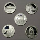 2010-S Proof Silver America The Beautiful Quarters, All 5 Parks - Free Shipping!