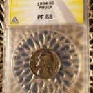 1964 Proof Jefferson Nickel ANACS PF68 Philadelphia Mint