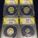 Certified ANACS Graded Collectible Silver Quarters or Dimes - Your Choice!