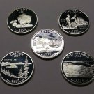2005-S Silver Statehood Quarters Deep Cameo Proofs All 5 States & Free Shipping!